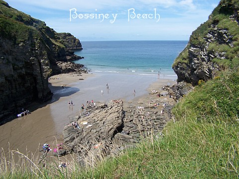 Bossiney Beach becomes one long golden expanse as the tide goes out