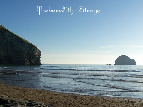 Trebarwith strand is less than a mile and a half away